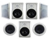 Acoustic Audio HT-87 7.1 Home Theater Speaker System (White)