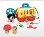 Baby Genius Plush Pet and Carrier Vet Care Set 9 Pieces Musical