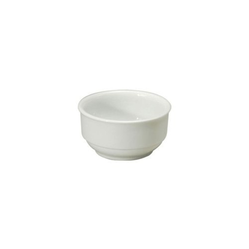 Cs White Undecorated Dinnerware - Noritake N7010000705 Ovation White 10 oz Stackable Bouillon - 36 / CS