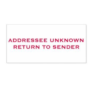 addressee unknown return to sender self inking stamp red ink