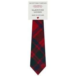 Boys Clan Tie All Wool Woven in Scotland MacKintosh Modern - Mackintosh Tie