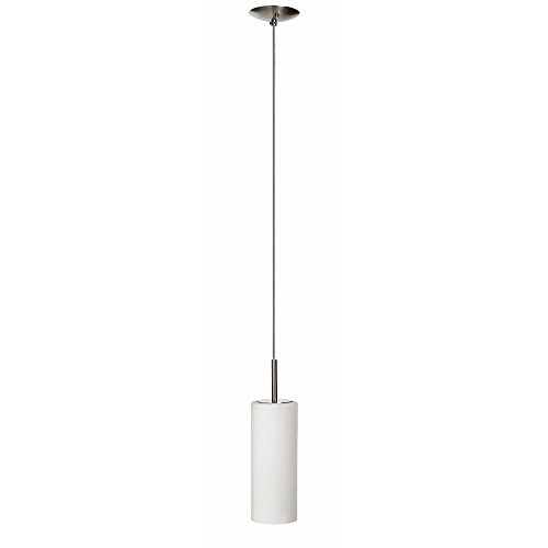 Dainolite 83202-SC-WH Single Pendant White Glass, Satin Chrome/White Glass - Dainolite Satin Pendant