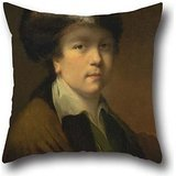 (Throw Pillow Covers Of Oil Painting Richard Hurleston - Joseph Wright Of Derby,for Seat,bar,family,study Room,kids Room,car Seat 18 X 18 Inches / 45 By 45 Cm(twice)