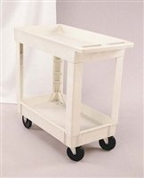 (RCP450088BLA - Black Heavy Duty 2 Shelf Utility Cart, 17 1/8 quot; x 39 1/4quot;)