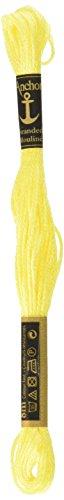 Anchor Six Strand Embroidery Floss 8.75 Yards-Canary Yellow Medium Light  12 per box
