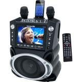 "Karaoke USA DVD/CD+G/MP3+G Bluetooth Karaoke System with 7"" Screen, Record Function and 2 Microphones"