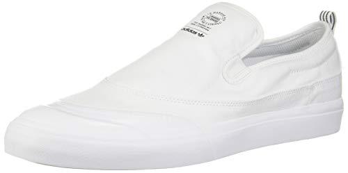 (adidas Originals Men's Matchcourt Slip Skate Shoe , white/white/white , 13.5 M US)
