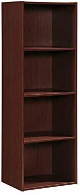 4 Shelf Bookcase in Mahogany Storage Shelves Storage Cabinet Book Shelf Corner Shelf Book Shelves Shelf Organizer Home Office Bookshelf Book Stand Book case Office Furniture Storage Shelves