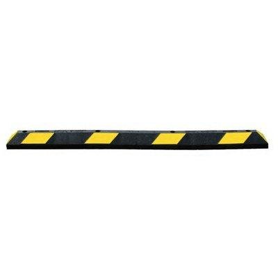 6ft Park It YLW Stripe Rubber Pkg Curb4'' H x 6'' W x 6' L Black/Yellow by Superior Manufacturing Group