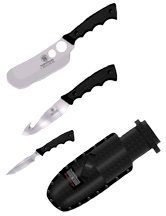 Smith and Wesson SWCAMP  Campfire Set with Cleaver, Guthook and Campknife, Outdoor Stuffs