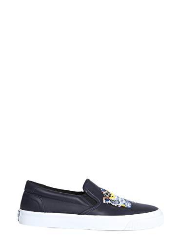 Kenzo Femme F862sn104l9276 Bleu Cuir Chaussures De Skate
