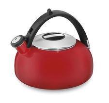 new-cuisinart-ctk-eos2r-peak-porcelain-enamel-on-steel-tea-kettle-red