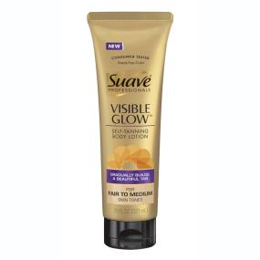 Suave Professionals Visible Glow Gradual Self-Tanner, Fair-Medium, 7.5 Fluid Ounces