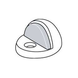 Rockwood 443 Floor Mount Dome Door Stop - Hi Rise, US26D-Satin Chrome ()