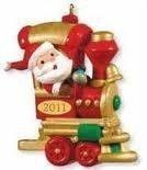 QRP5907 Choo-Choo Cheer Santa's Holiday Train 2011 Hallmark Miniature Keepsake ()