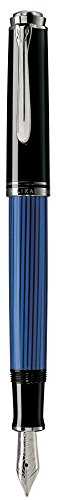 Pelikan fountain pen M (in character) blue stripe Suberen M405 Dual expression regular imported goods -  932855