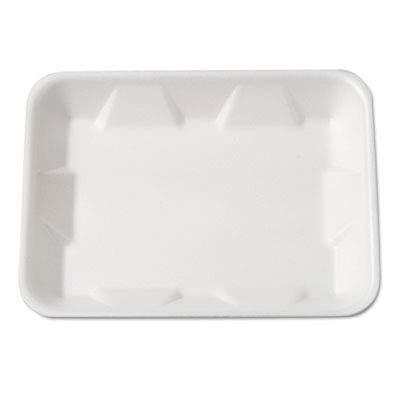 Genpak 4DWH Supermarket Tray, Foam, White, 9-1/4 x 7-1/4 x 4/5, 125 per Bag (Case of 4)