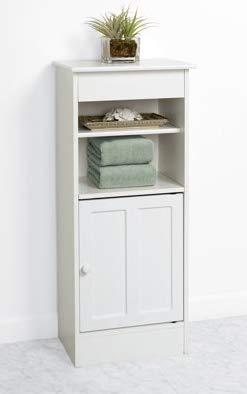 Bathroom Organizer Storage Linen Cabinet White