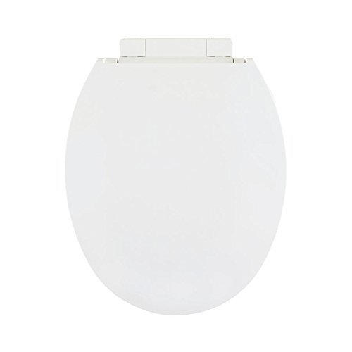 Centoco 1400SC-301 Plastic Round Toilet Seat with Closed Front, Crane White