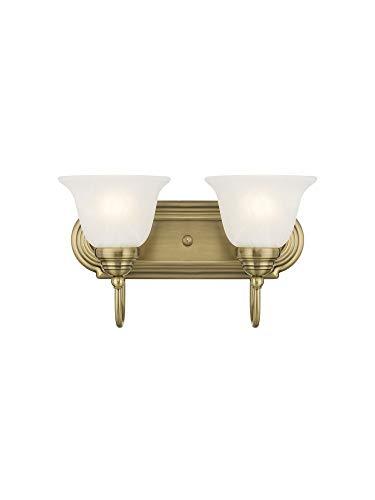 Livex Lighting 1002-01 Belmont 2-Light Bath Light, Antique - 2 Light Belmont