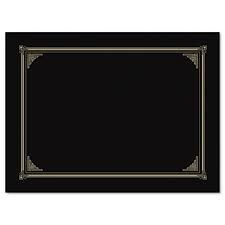 Certificate / Document Cover, Linen Stock, Black, Five per Pack