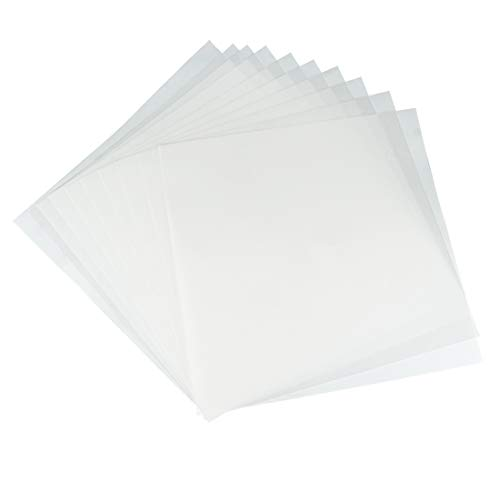 JINSEY Make Your Own Stencil - 10 Pack 6 Mil 12 x 12 inch Blank Stencil Sheets - Ideal Use Compatible Cricut & Silhouette Machines (Mylar Material)