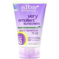 Alba Botanica Soothing Sunscreen, Pure Lavender SPF 45, 4 Ou