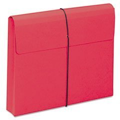 -- Two Inch Accordion Expansion Wallet with String, Letter, Red, 10/BX by MOT3