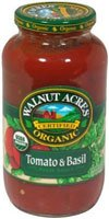 Walnut Acres Organic Pasta Sauce Tomato Basil -- 25.5 fl oz - 2 pc (Organic Acres Sauce Walnut)