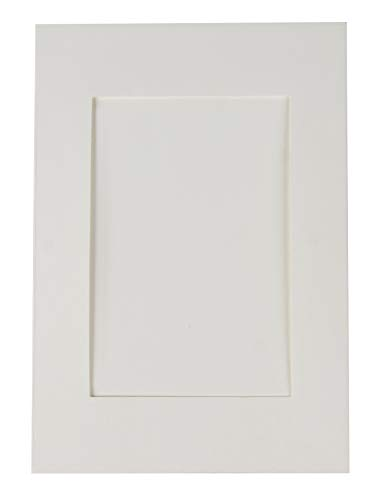 - 48-Pack Photo Insert Note Cards Paper - Picture Frames Envelopes, Embossed Paper Photo Mats, Perfect Inserting Sending Memorable Documents, Ivory White, Holds 4 x 6 Inches Inserts