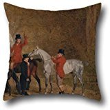 18 X 18 Inches / 45 By 45 Cm Oil Painting Benjamin Marshall - Foxhunting Scene Throw Pillow Case ,2 Sides Ornament And Gift To Bench,festival,chair,bedroom,teens,kids Girls