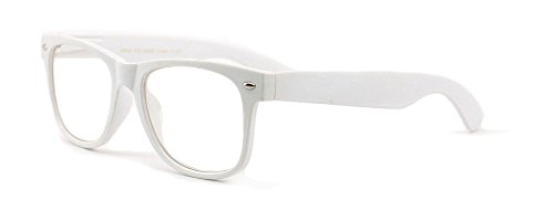 - White Clear Reading Glasses - Comfortable Stylish Simple Readers Rx Magnification (2.50, white)