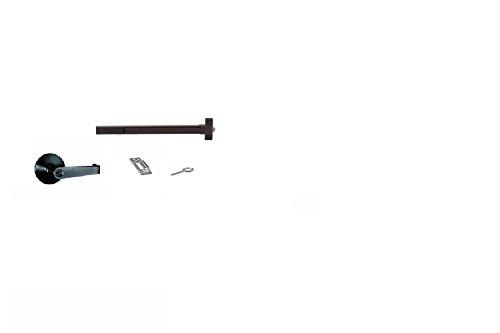 Exit Door Lever Set - Global Door Controls Push Bar Panic Exit Device Aluminum, With Exterior Lever (Duro)