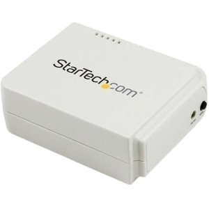 StarTech.com 1 Port USB Wireless N Network Print Server with 10/100 Mbps Ethernet Port - 802.11 b/g/n - Wi-Fi - IEEE 802.11n - USB - External - PM1115UW