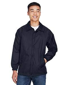 Harriton Men's Nylon Staff Jacket M775 -NAVY - Windbreaker Nylon Jacket