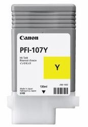 Canon PFI-107Y 130ml Ink Tank for iPF680/685/780/785, Yellow