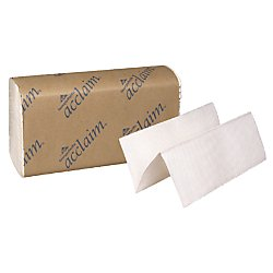 """Price comparison product image Georgia-Pacific Acclaim 20204 White Multifold Paper Towel, (WxL) 9.2"""" x 9.4"""" (Case of 16 Packs, 250 Towels per Pack)"""