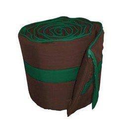 Solid Colored Stripe Cradle Bumper, color:Brown/Green, size: 15x33