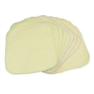 Unbleached Organic Flannel Wipes 12 Pack