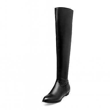 Fashion Wedding Office Over Spring Career Boots Leatherette US11 RTRY Heel Shoes Women'S Round Winter Boots Boots CN44 Knee For Chunky Buckle Toe UK9 The amp;Amp; EU43 7wUxHXq