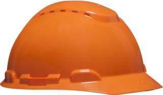 3M H700NOR - H700 Casco con ventilación, naranja, arnés de ruleta