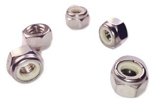 Serval Products 5/16-18 Nylon Insert Lock Nuts Stainless Steel 18-8 (304) Stop Nut Pack 50
