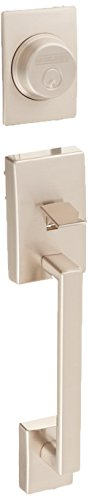 Pair Dummy Set - Schlage F92-CEN Century Dummy Exterior Handleset from the F-Series, Satin Nickel