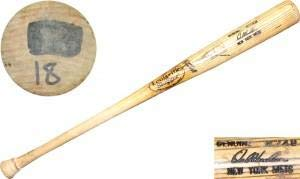 Mlb Unsigned Bats - Orel Hershiser Unsigned Game Used Cracked Louisville Slugger Bat - MLB Game Used Bats