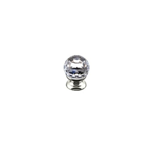 Rohl A1479CPN 1-1/8-Inch Diameter Country Bath Single Crystal Pull Knob in Polished Nickel by Rohl