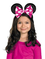 Minnie Mouse Ears W/Rev Bow -