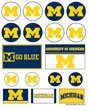 (WinCraft NCAA University of Michigan Vinyl Sticker Sheet, 5