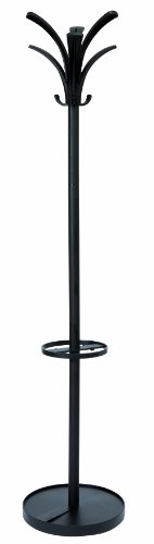 Coat Alba - Alba Floor Coat Stand with 6 Pegs and 3 Hooks, Black (PMBRION)