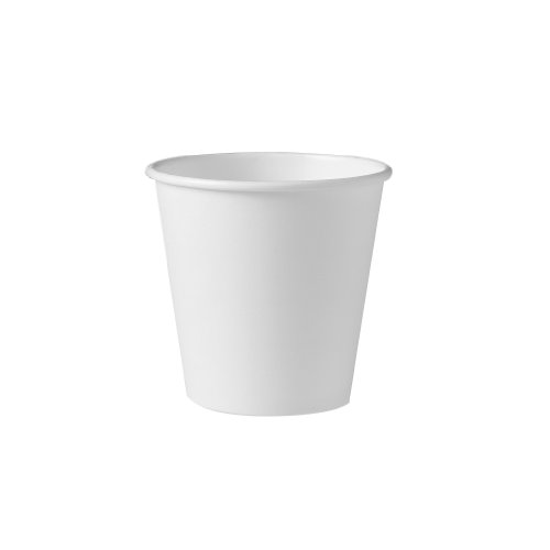 SOLO 410W-2050 Single-Sided Poly Paper Hot Cup, 10 oz. Capacity, White (Case of 1,000)