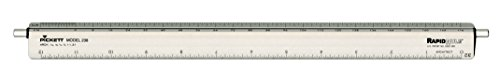 Pickett Professional Architecture Adjustable Triangular Scale, 12 Inches Long, Aluminum, 1 Each (Chartpak Triangular Scale)